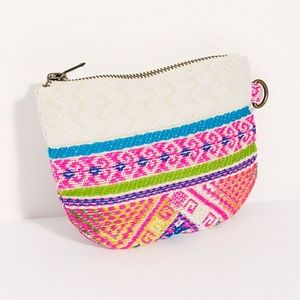 FREE PEOPLE ADORABLE CHANGE $ CARD HOLDER POUCH